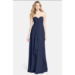 Jenny Yoo 'Suri' Navy Flowy Sweetheart Dress